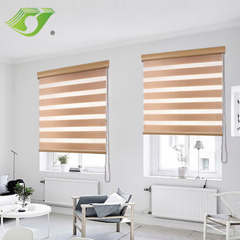 Wholesale indoor double roller shade zebra blinds price for window