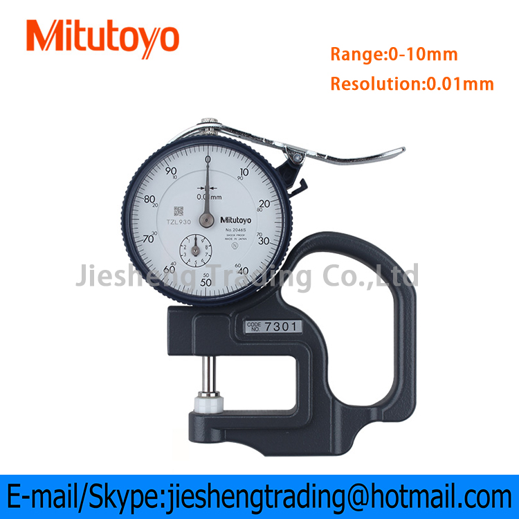 Official Mitutoyo Dial Thickness Gauge 7301 From Japan