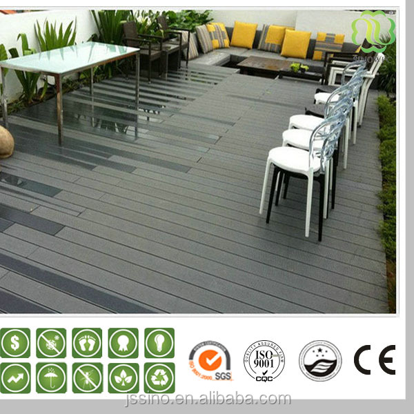 96x20mm long lifetime solid wpc decking/board price