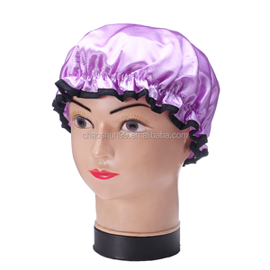 Christmas drawstring silk shower cap