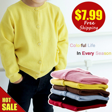 Dětský pletený svetr sladkých barev