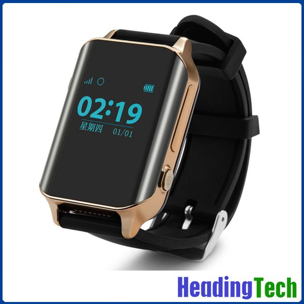 2016 new GPS watch for elder people, Curved screen big font smart watch with geo fence
