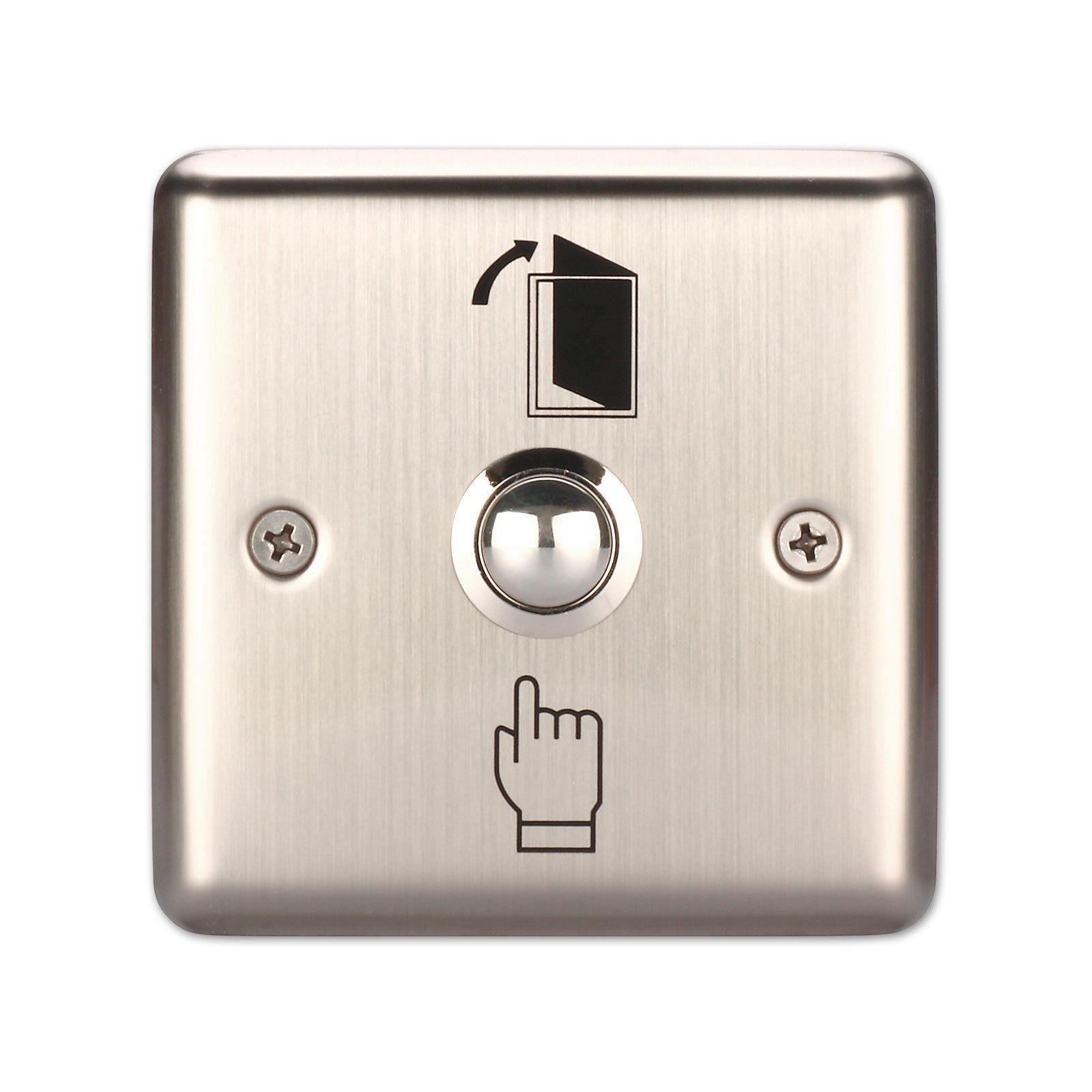 ღილაკი Door Release Button , (Stainless Steel, NO/NC),K5B: 86*86mm