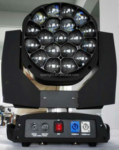 19 15w bee eye led moving head light with zoom
