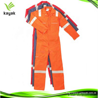 custom design oil and gas workwear cotton reflective workwear uniform for industry engineering