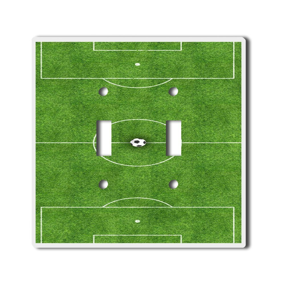 Light Switch Double Toggle Wall Plate Cover By InfoposUSA Soccer Field