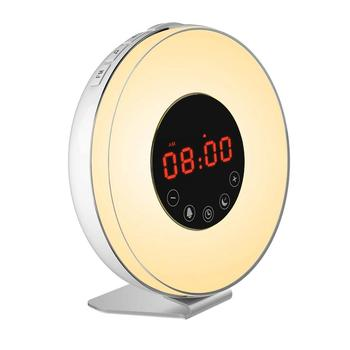 Led Wake Up 7 Color Light With Nature Sound Metal Alarm Clock Speaker With  Phone Charger Alarm Clock For Deaf - Buy Alarm Clock With Phone