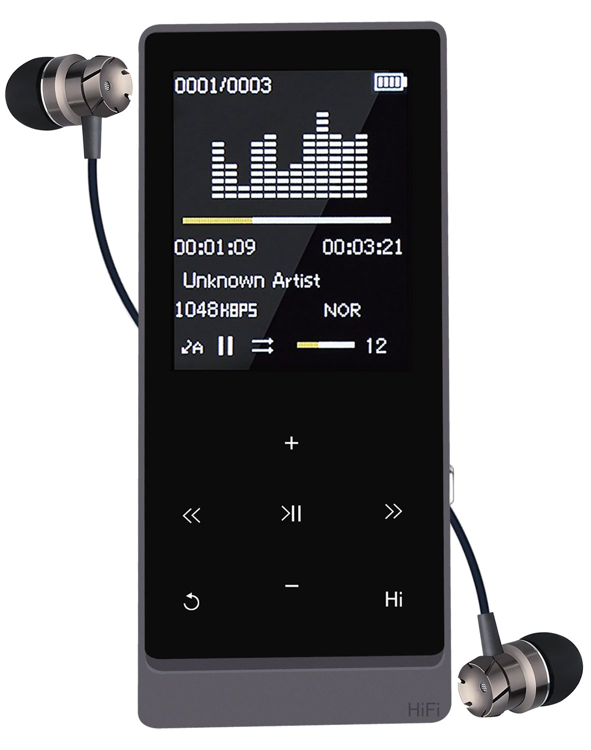 Bluetooth MP3 Player (Bluetooth 4.0),Newiy Start 8GB Lossless Sound Music Player Touch Button 1.8 inch Screen 55 Hours Playback Hi-Fi Sound with Voice Recorder/FM Radio(Expandable UP to 64GB)
