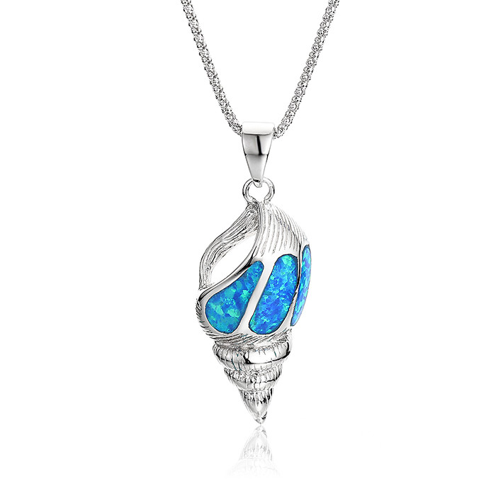 Latest Imitation Jewellery Designs For Blue Opal Stone Pendant