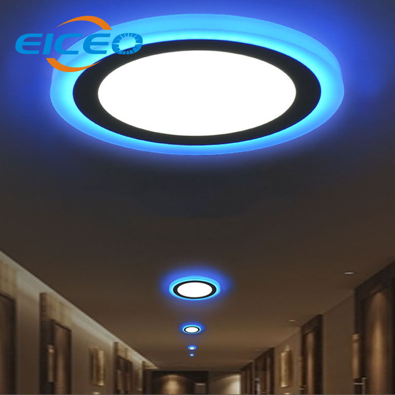 2016 New White Blue Recessed Led Panel Lights Ceiling Lamp