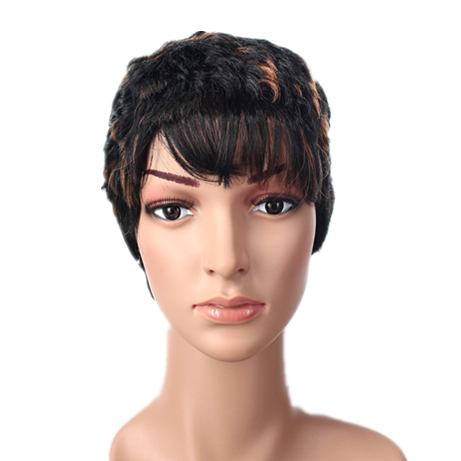 Wendy Hair Brand Cheap 2 Tone Color Short Synthetic Wig for Black Women