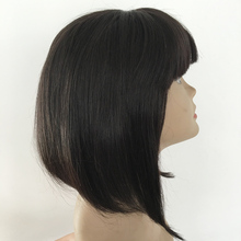 Commercio all'ingrosso frangia glueless piena del <span class=keywords><strong>merletto</strong></span> 100% dei capelli umani <span class=keywords><strong>breve</strong></span> bob parrucche dei capelli umani per le donne nere