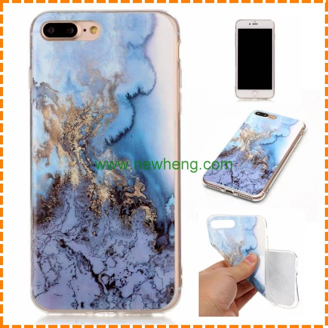 Hot Selling Marble Stone image golden Painted Fashion Mobile Phone Case For iPhone 7
