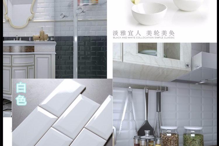 Nieuwe ontwerp waterdichte glossy keuken wandtegel wit metro tegel