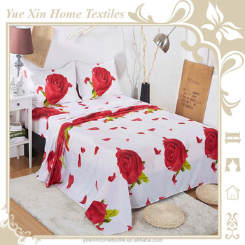 Great Red Rose Bed Sheets