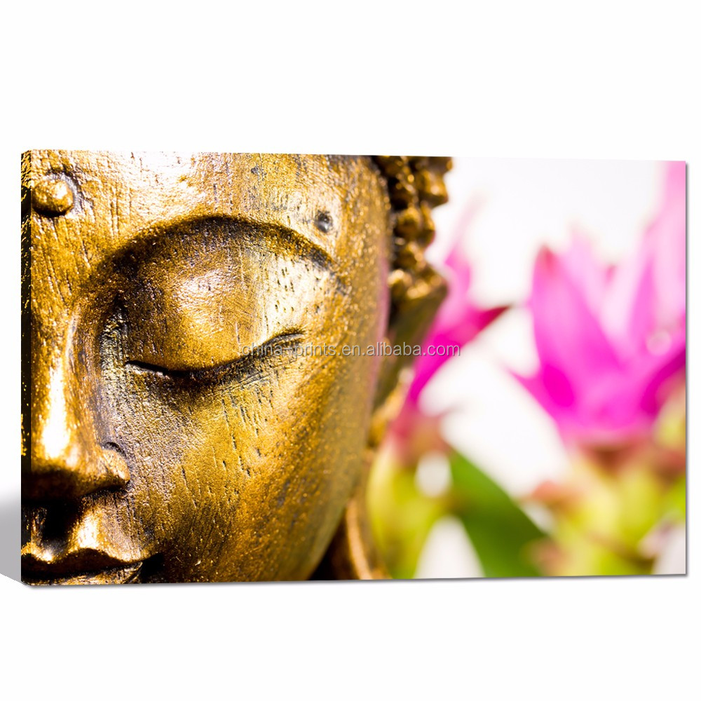 Modern Home Wall Decor Art/buddha With Pink Flower Wall Pictures ...