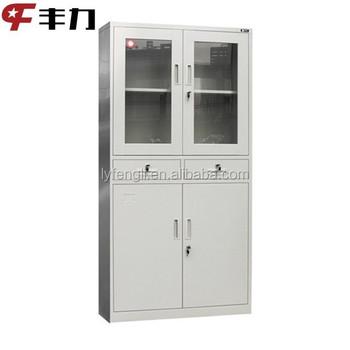 Glass Door Metal Dental Cabinet Design