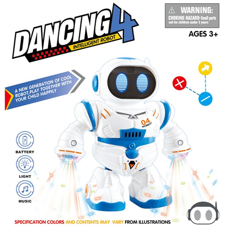 Hot sale electronic lights and music dancing robot toy for kids