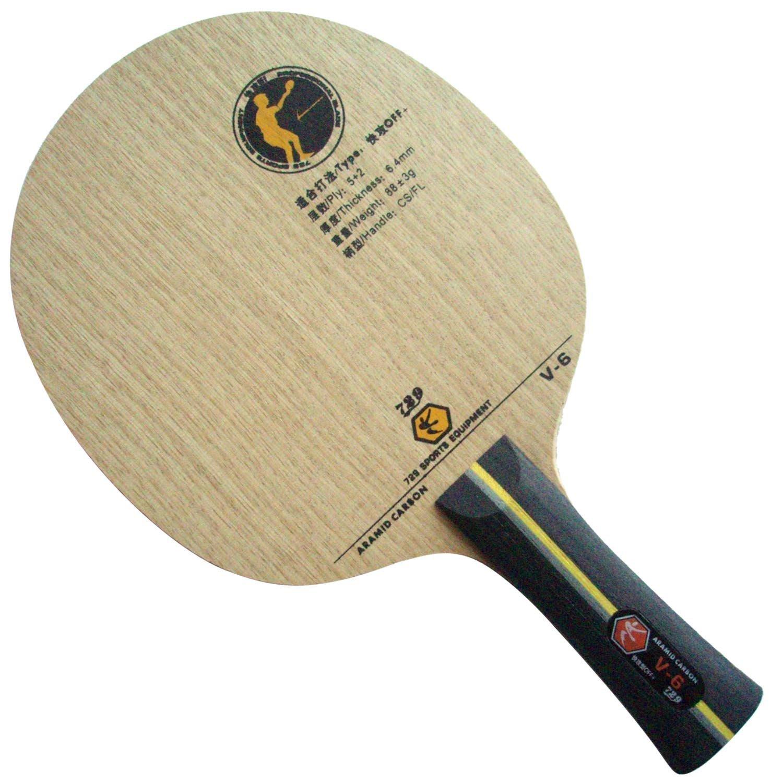 729 V-6 Aramid Carbon FL Table Tennis Blade