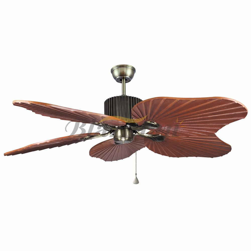 48 inch Remote control decorative ceiling fan 5 Natural wood blade 188*12 moter 48-1005