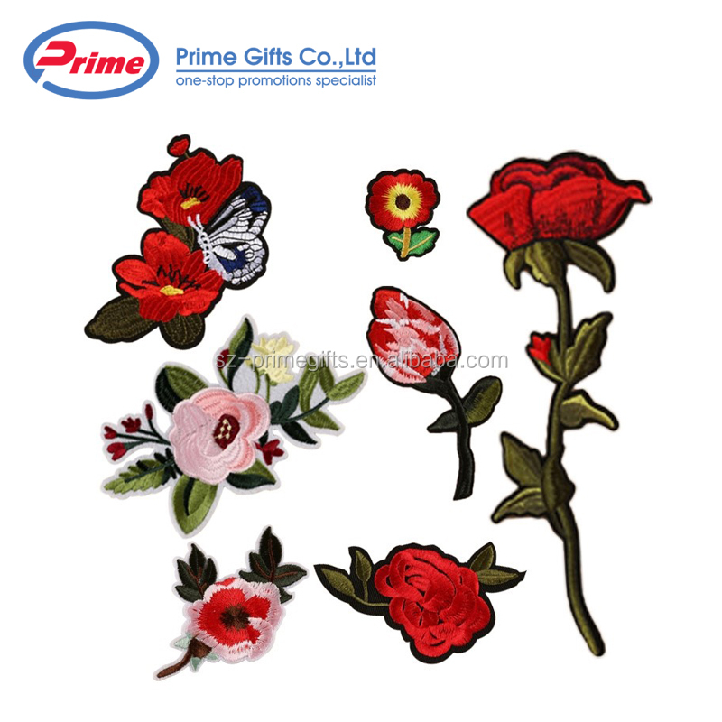 Popular 3d Flower Embroidery Patch with Your Logo