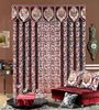 Latest curtain designs double swag curtain with valance curtain