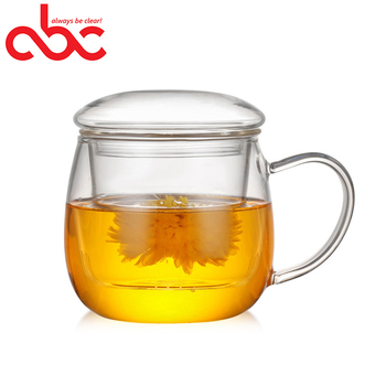 400ml Mouth-blown Glass Tea Infuser Mug Tea Cup With Filter For Infusing Loose Tea