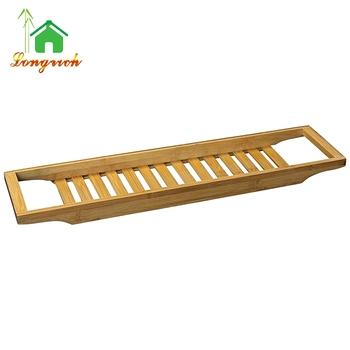 Luxury Slim Bamboo Bath Bridge Bathtub Rack Shelf Tray - Buy Bathtub ...