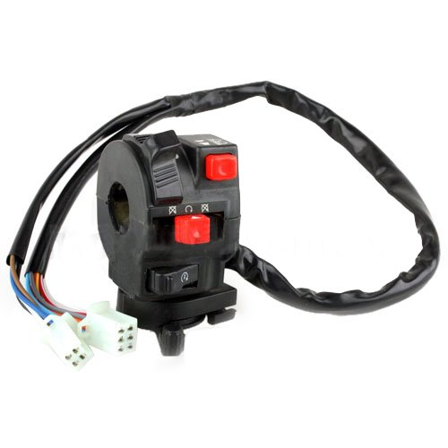 X-PRO 5-Function ATV Left Switch Assembly with Choke Lever Quad 4 Wheeler Taotao SunL JCL Coolster Kandi Supermach Tank