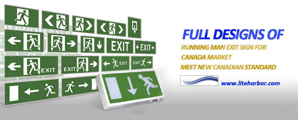 Left Arrow Running Man Self Luminous Exit Signs - Buy Unning Man ...