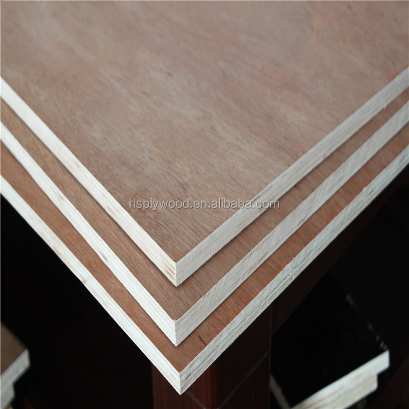 MR glue sanded bintangor face veneer commercial Plywood in linyi china