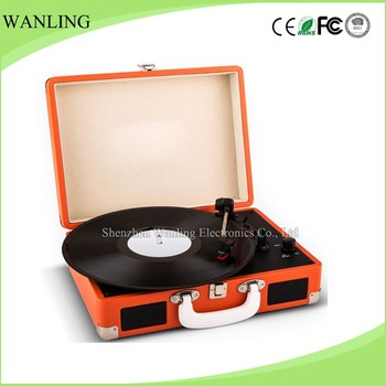 Kids record player Original Cd Player orange Vinyl Record Player