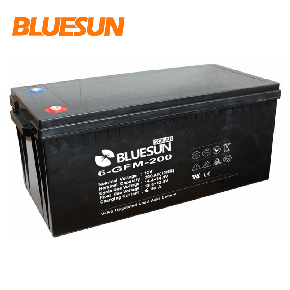 Solar Battery GEL 12 V 200Ah AGM Battery 12V200Ah Inverter Baterai