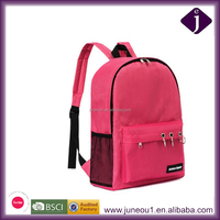 Pink blank Deaign Student School Backpack Bag with Wire Loop Decorate