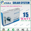 Portable AC and DC Solar device with Built-in Solar Panels with 15W solar panel 150W output