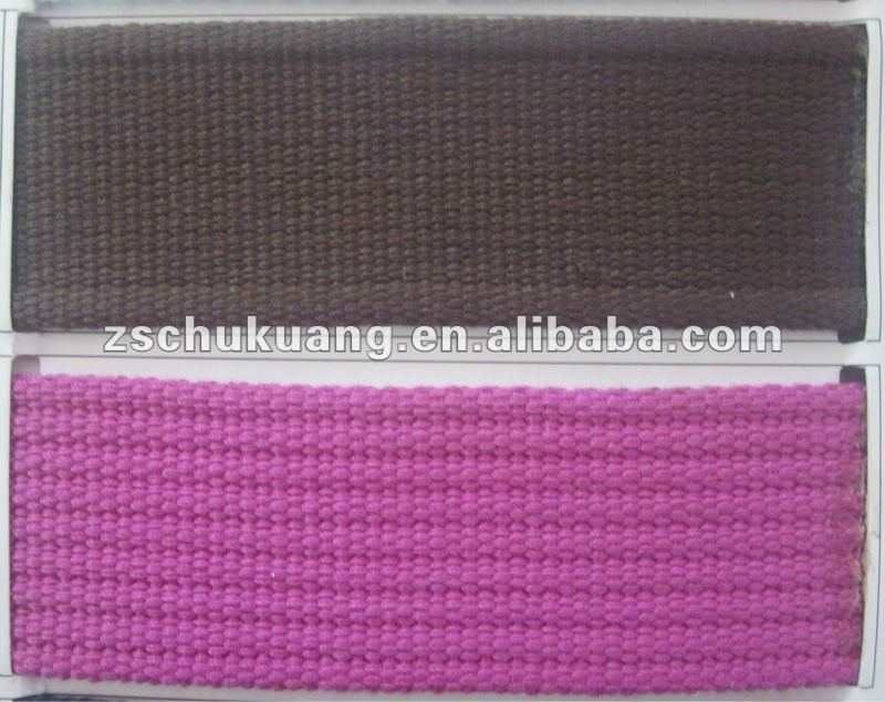 37mm colorful and durable canvas cotton webbing binding tape for belts