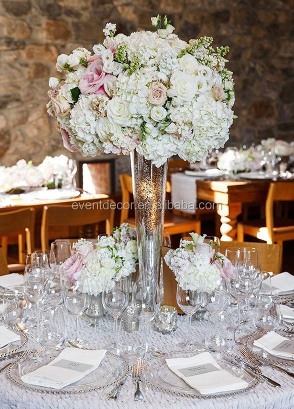 Billige hohen glas-vase für hochzeit blumen anordnung-Glas und ...