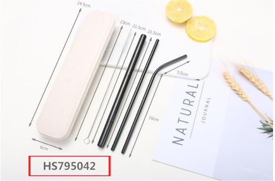 HS795042, Huwsin Toys, Wholesale Custom Logo Reusable Stainless Steel Drinking Straws, Metal Straw with brush