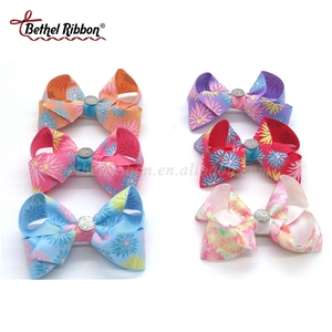 Designer top sell colorful ribbon flowers hair clips