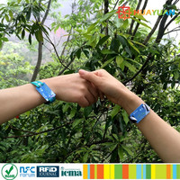 Event management ISO15693 personalized RFID woven I CODE SLI Wristband