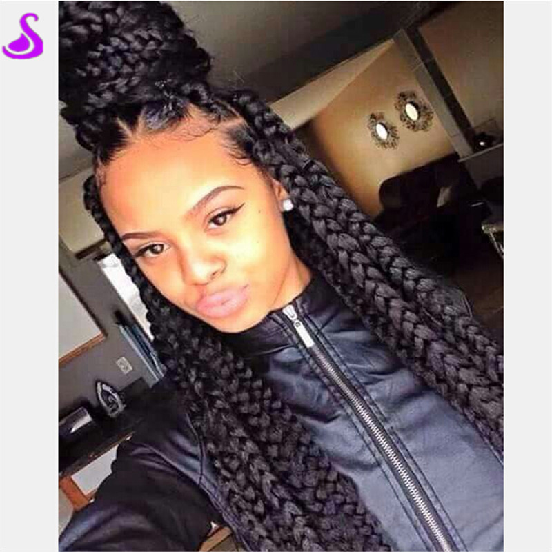 Swell Large Thick Box Braids Braids Short Hairstyles For Black Women Fulllsitofus