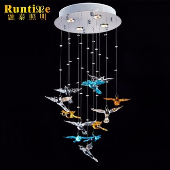 colorful chandelier lighting modern blue popular french colorful chandelier with birds buy