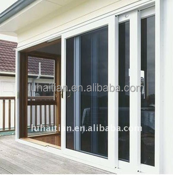 3 Panel And Wide Opening Pvc Upvc Sliding Door With Glass