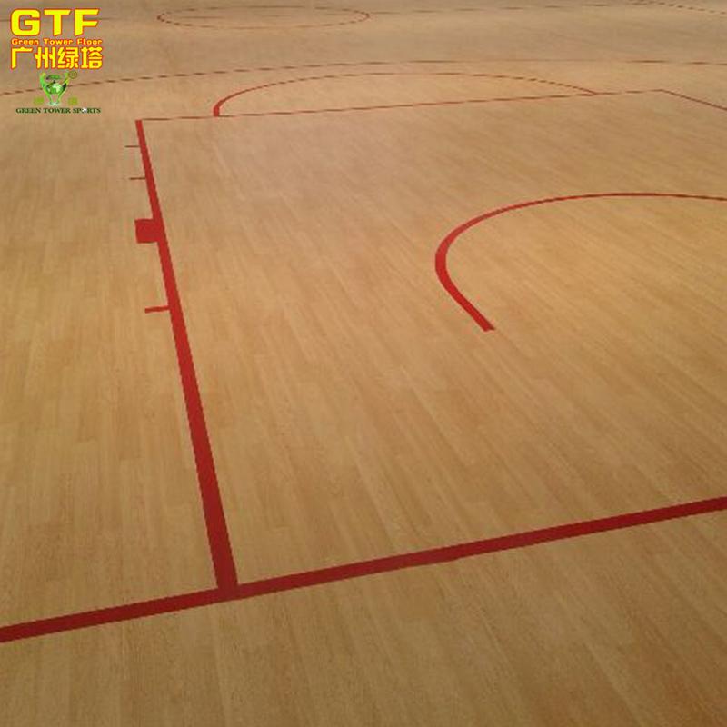 Indoor Vinyl Sports Flooring For Basketball Court Pvc Maple Wood
