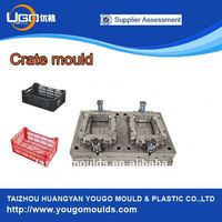 Yougo mould reliable mould manufacturer for plastic stackable crates mould in taizhou China
