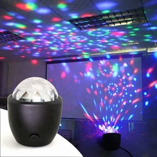 Promoción USB Led mini crystal ball RGB DJ disco luces