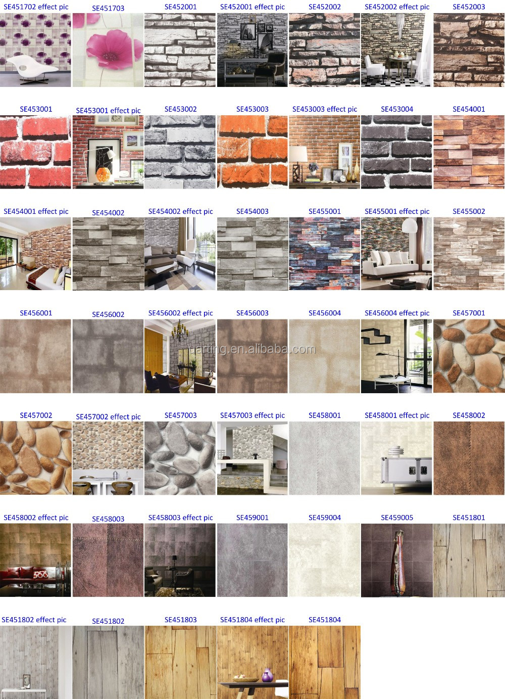 Stone Wall Paper 3d brick and stone wallpaper/korea brick wall paper for home