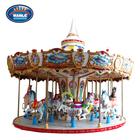 Wanle Amusement child carnival game Merry Go Round music theme park ride Carousel backyard machine factory