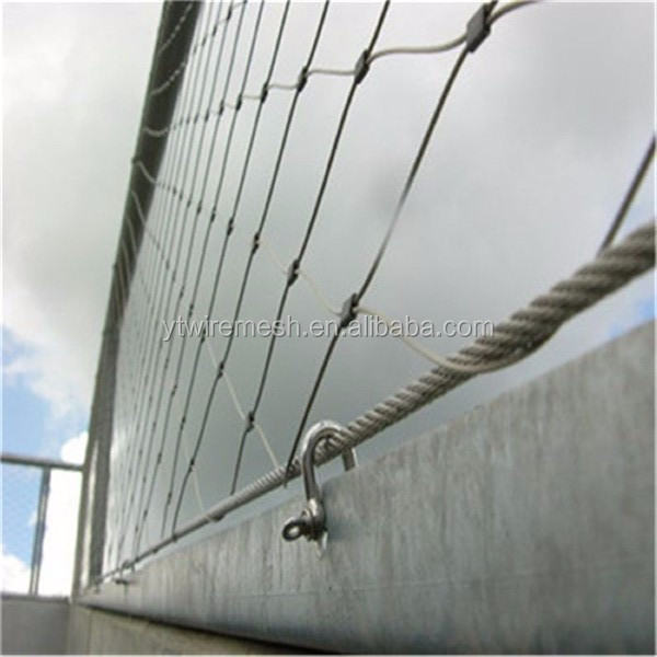 Government Project Stainless Steel Wire Rope Mesh(ferrule Type ...