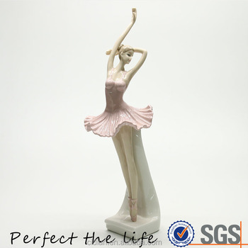 Ballerina Ceramic ballet dancer statue for decoration